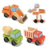 Munkagép készlet fából - szétszerelhető, montesszori fa autók - Melissa Doug 13076 (ME)