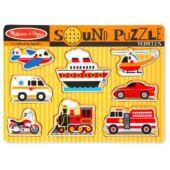 Járművek hangot adó formaberakó puzzle - Melissa 10725 (ME)