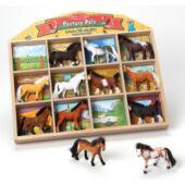 Ló figurák 12 darabos készlet - Melissa Doug 10592 (ME)