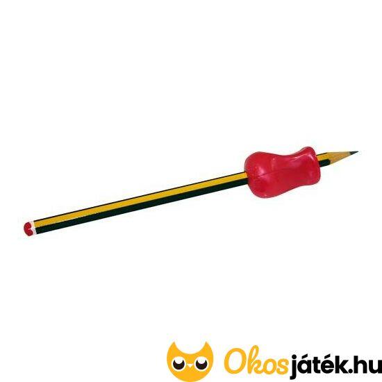 Ceruzafogó (puha gumiból), háromszög alakú (394) Piros (ED)