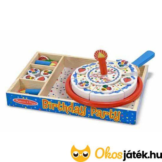 Játék torta - szülinapi, szeletelhető Melissa&Doug játék torta - 10511 (ME)