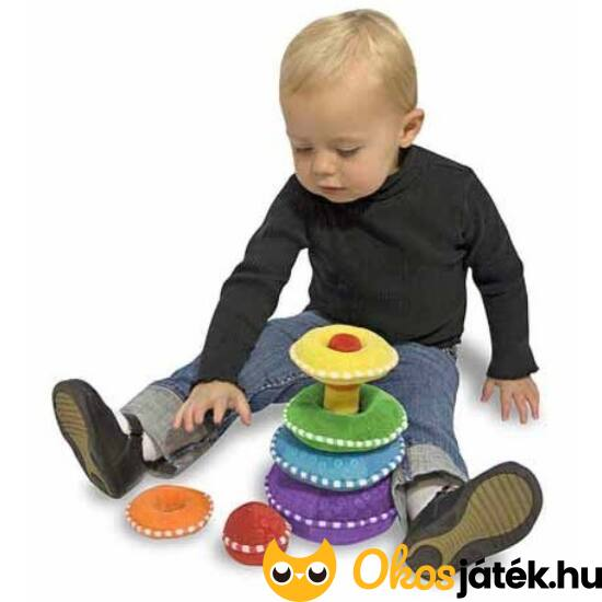 Plüss montessori torony, bébijáték - Melissa & Doug 13066 (ME)