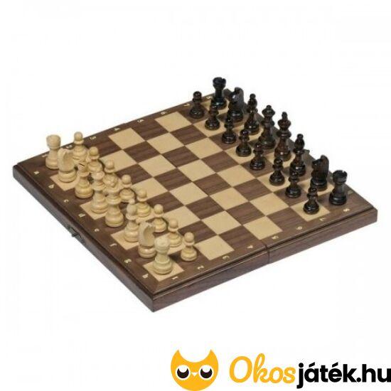 Mágneses sakk készlet fából Goki 56920 (HO)