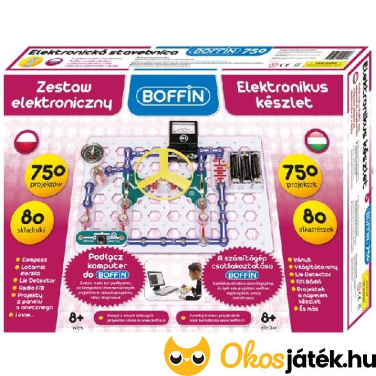 Boffin 750 -  elektronikai tudományos-kísérletezős játék készlet